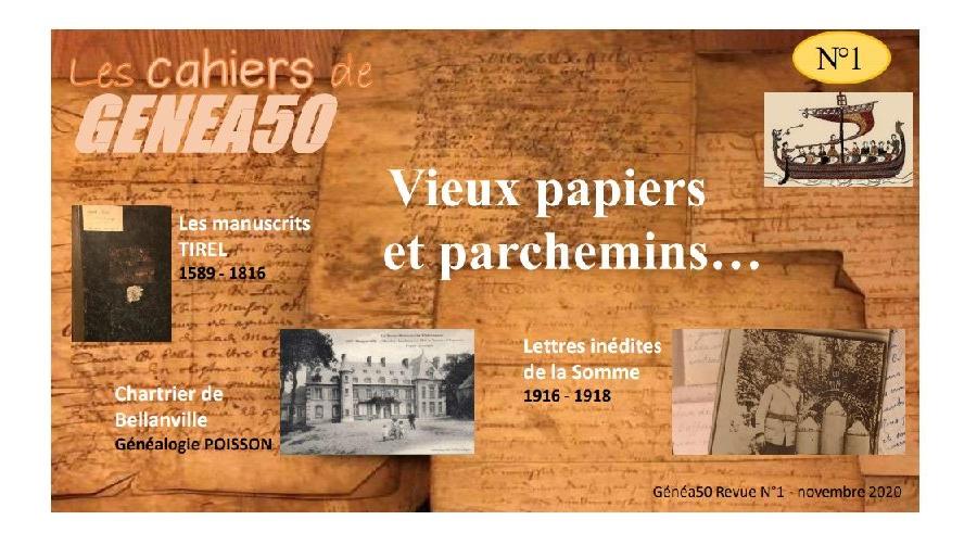 Les Cahiers de Généa50 N°1